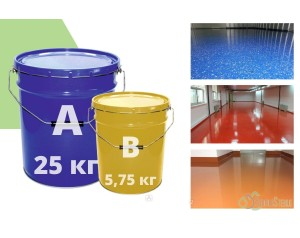 Эпоксидный наливной пол БЭП 205 С (любой цвет) - 30,75 кг